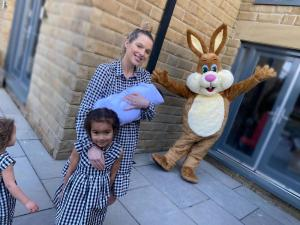 The Easter Bunny visits Corrie star Helen Flanagan & her Children